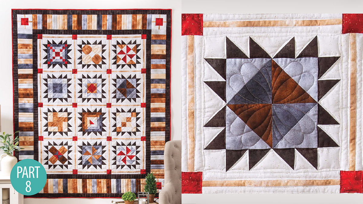 Quilter's Skill Builders: Star-Bound Sampler Quilt: Half-Square Triangle Part 8