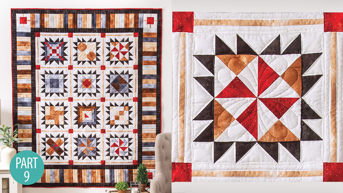 Quilter's Skill Builders: Star-Bound Sampler Quilt: Quarter-Square Triangle Part 9