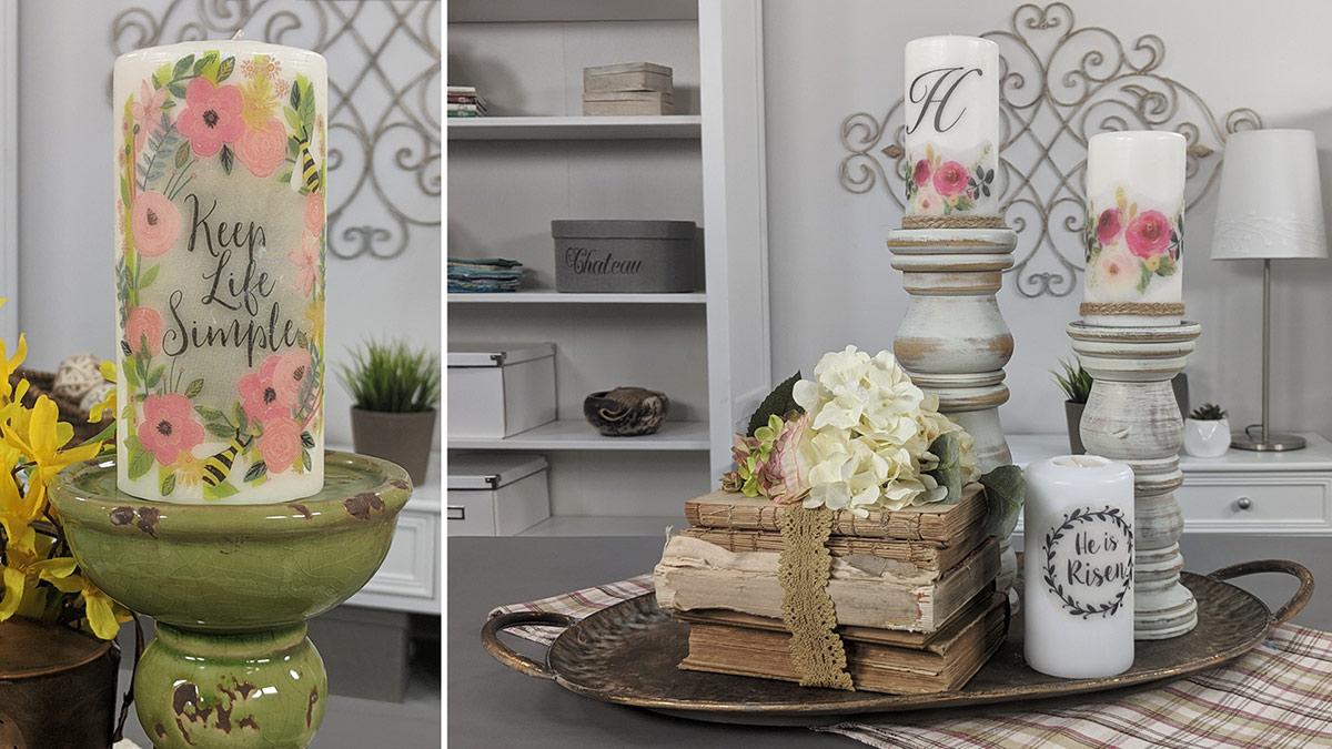 Creative Living: Pretty Up Pillar Candles