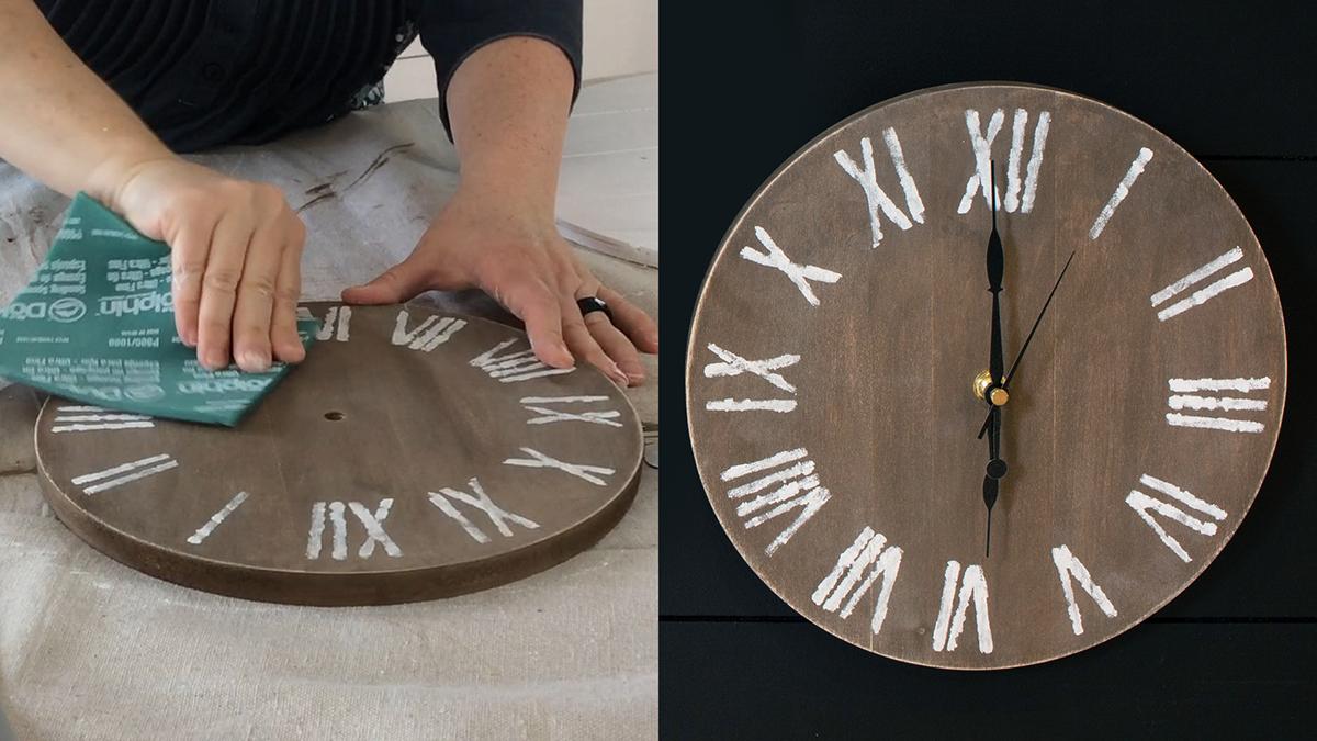 Creative Living: Make a Rustic-Style Clock