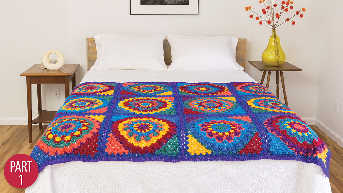 Learn, Make, Create!: Mandala Granny Afghan: Part 1