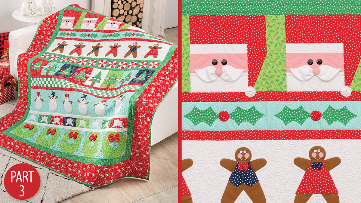 Quilter's Skill Builders: Very Merry Christmas Quiltalong: Part 3
