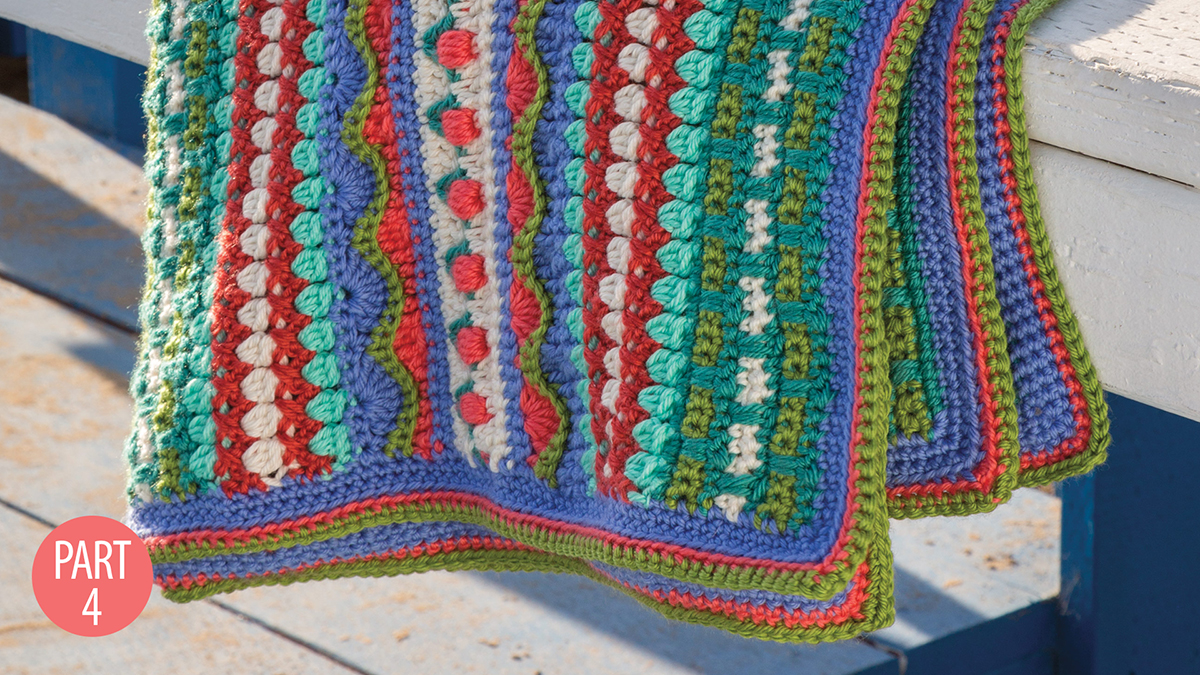 Crochet Skill Builders: Rhapsody Afghan: Part 4