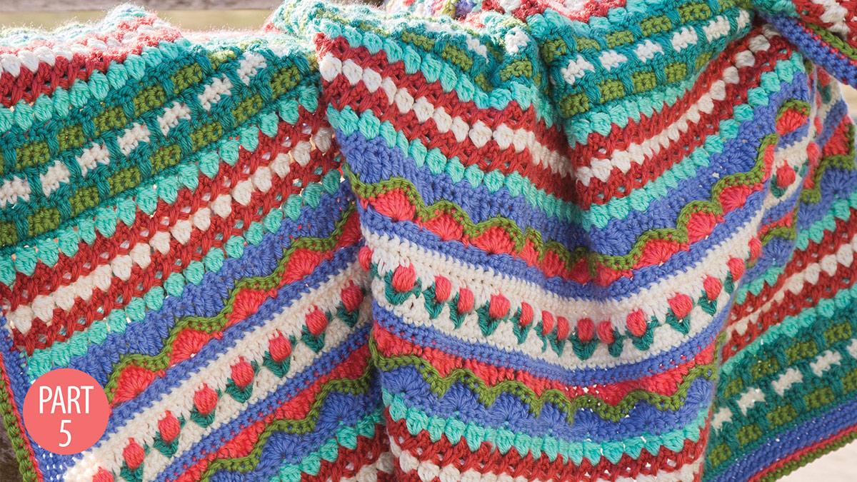 Crochet Skill Builders: Rhapsody Afghan: Part 5