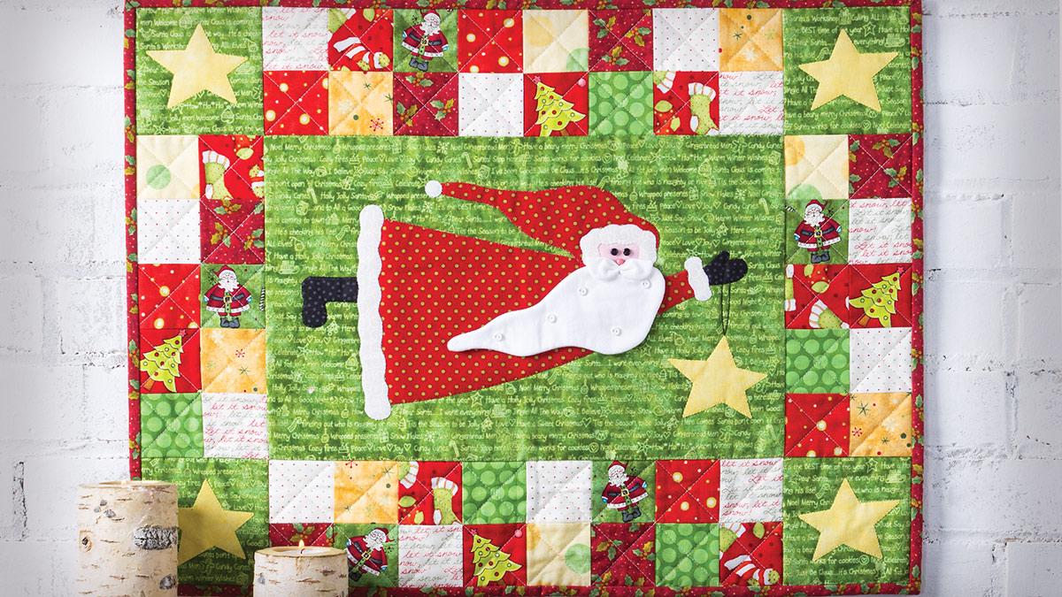 Learn, Make, Create!: Flying Santa Wall Hanging