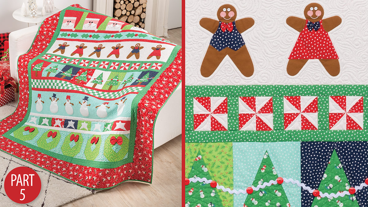 Quilter's Skill Builders: Very Merry Christmas Quiltalong: Part 5