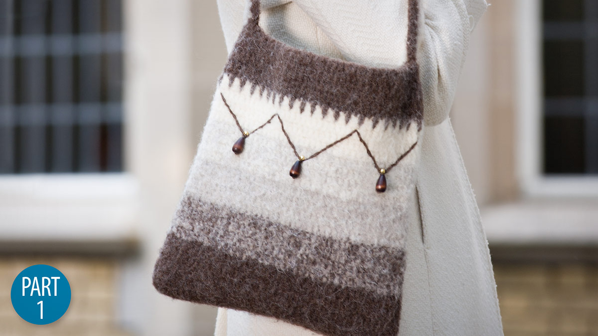 Dannie's Felted Purse: Part 1 video