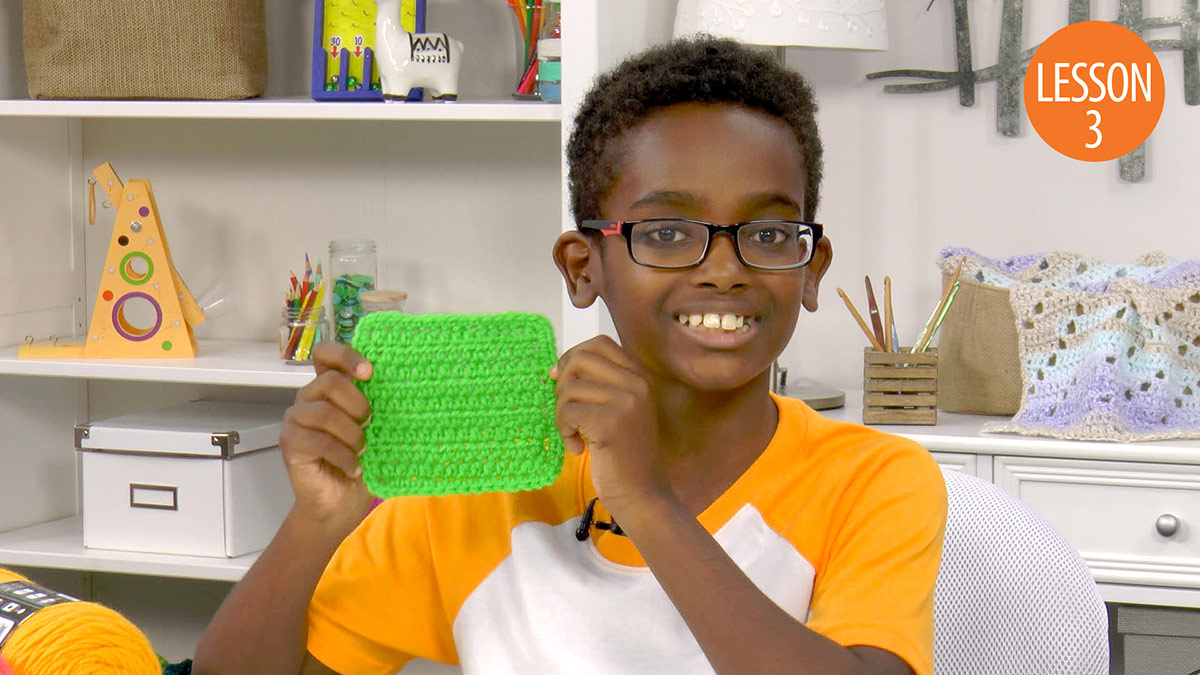 Quick Stitches & Tips: Learn to Crochet With Jonah: Lesson 3