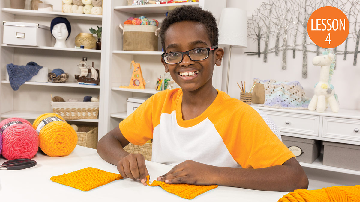 Quick Stitches & Tips: Learn to Crochet With Jonah: Lesson 4