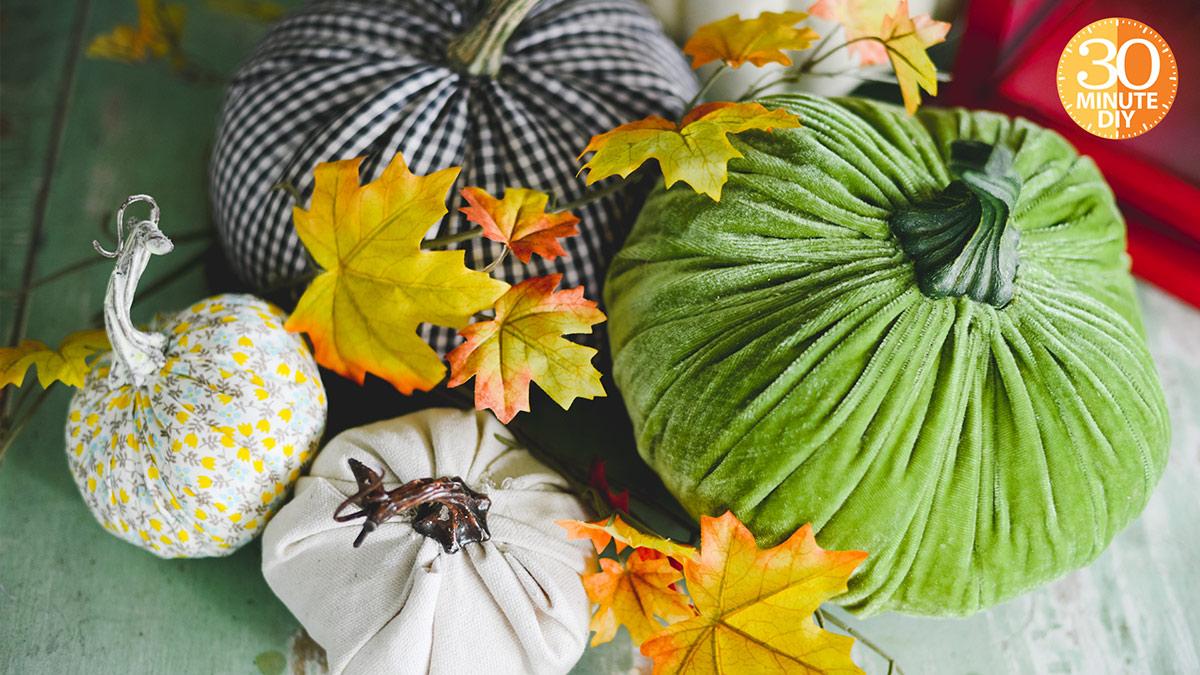 Creative Living: Quick Fabric Pumpkins