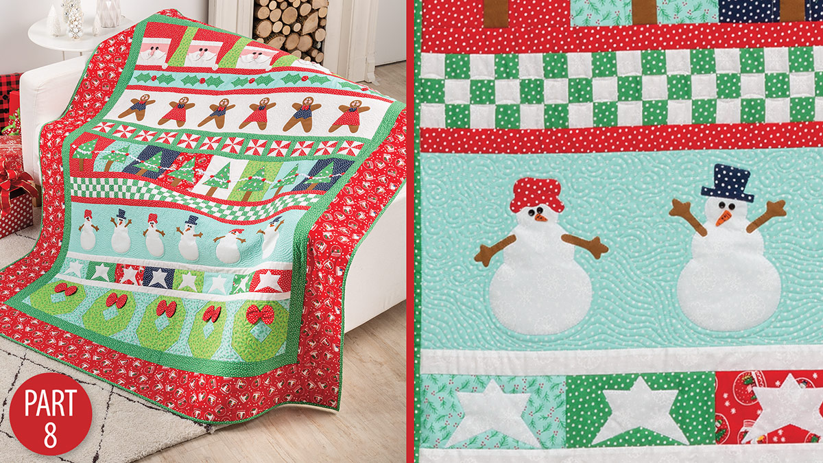 Quilter's Skill Builders: Very Merry Christmas Quiltalong: Part 8