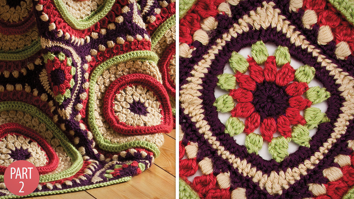 Crochet Skill Builders: Ringtoss Afghan: Part 2 Small Motif & Triangle