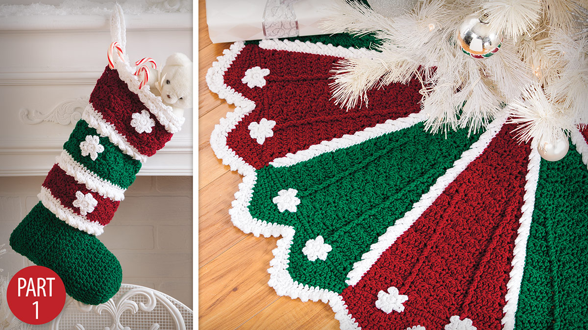 Learn, Make, Create!: Holiday Tree Skirt & Stocking: Part 1
