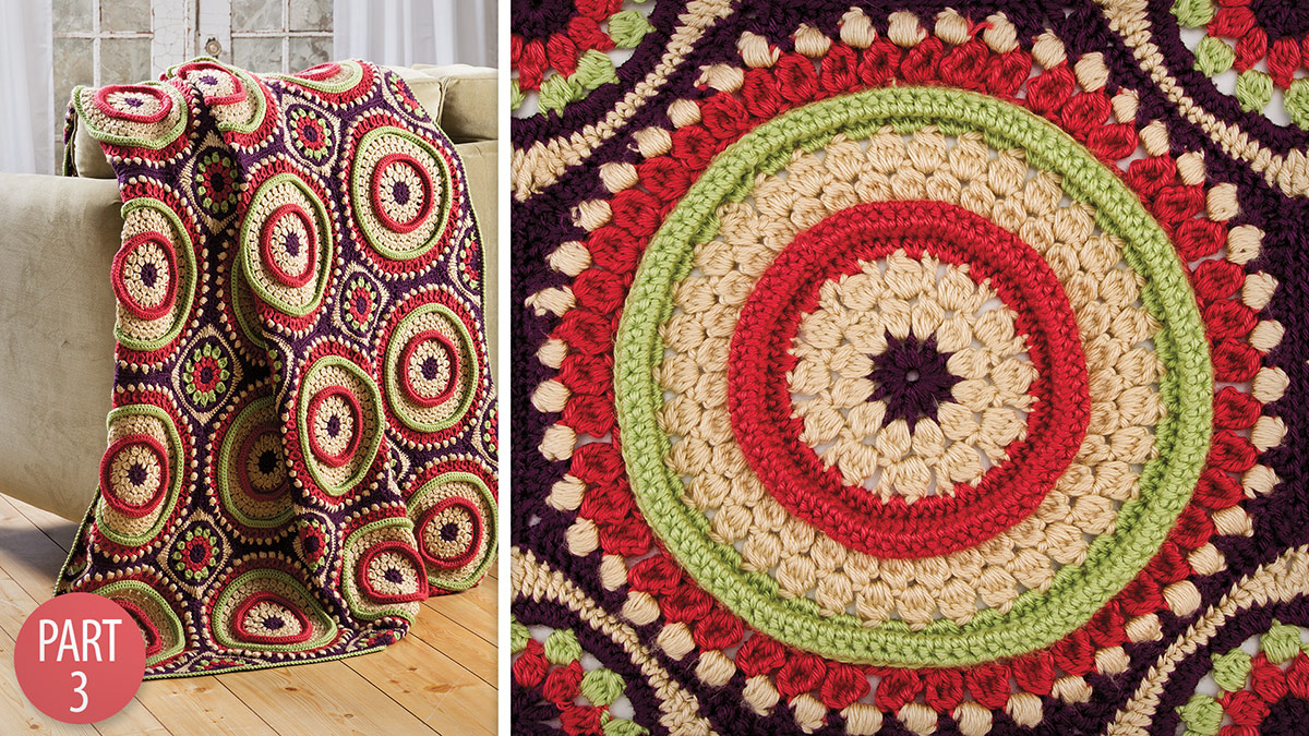 Crochet Skill Builders: Ringtoss Afghan: Part 3 Assembly & Edging