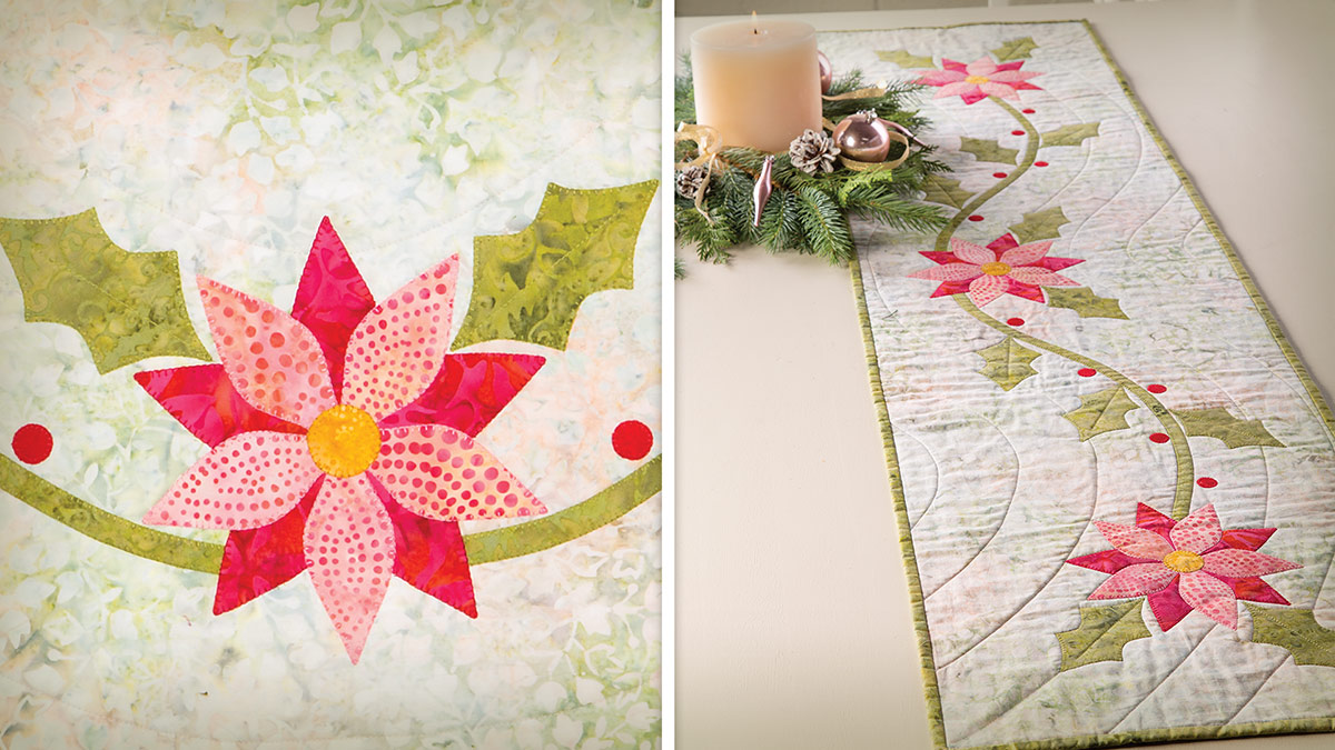 Learn, Make, Create!: Holiday Florals Table Runner