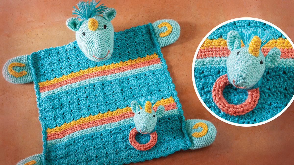 Unicorn Lovey With Matching Rattle video
