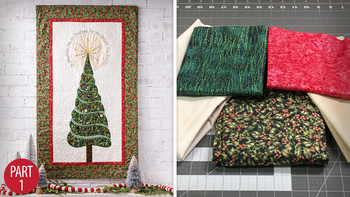 Oh Christmas Tree Wall Hanging: Part 1 video
