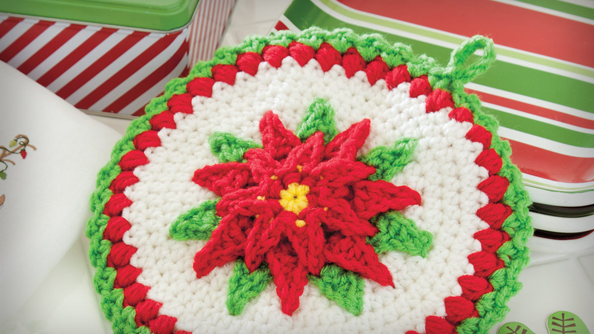 Learn, Make, Create!: Christmas Floral Pot Holders