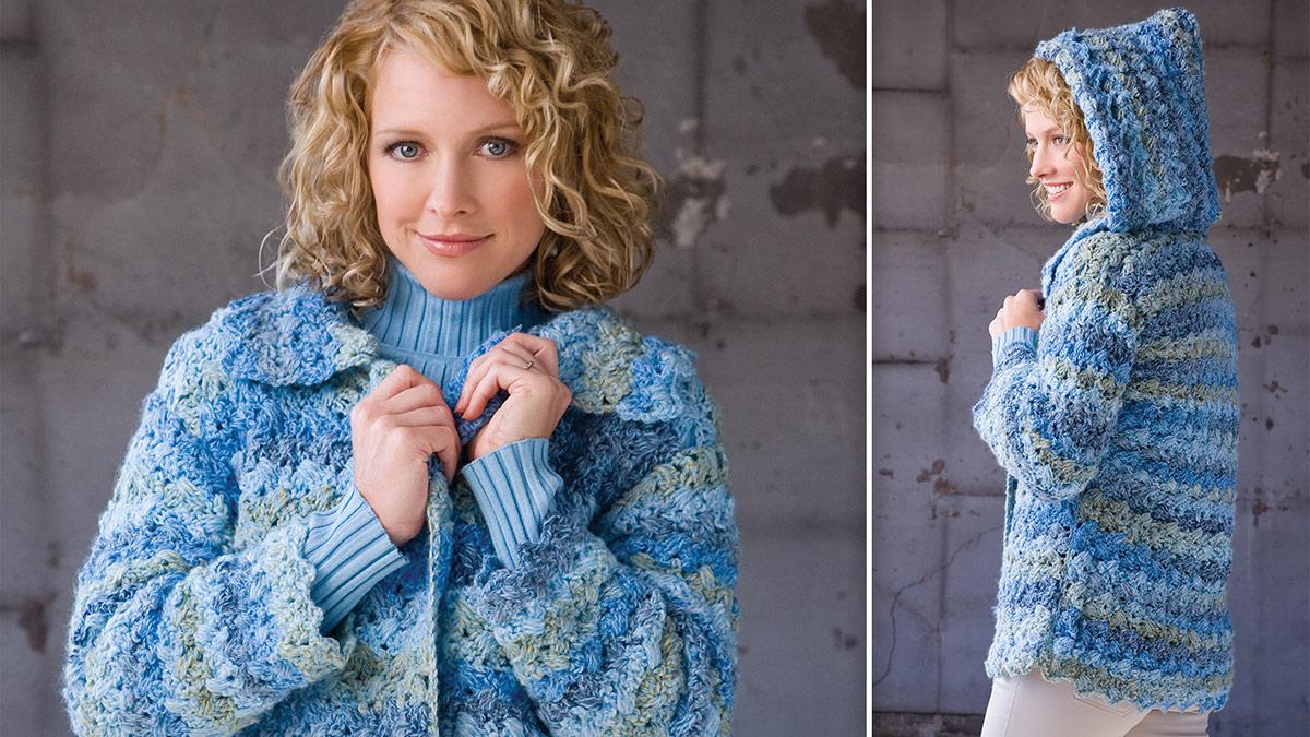 Learn, Make, Create!: Denim Marble Hooded Jacket