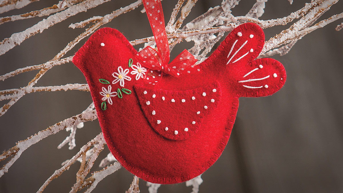 Winter Birds Embroidered Ornaments video