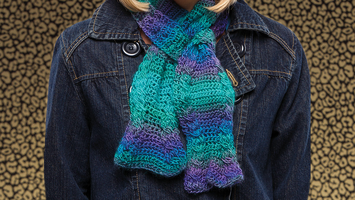 Learn, Make, Create!: Hourglass Cables Scarf