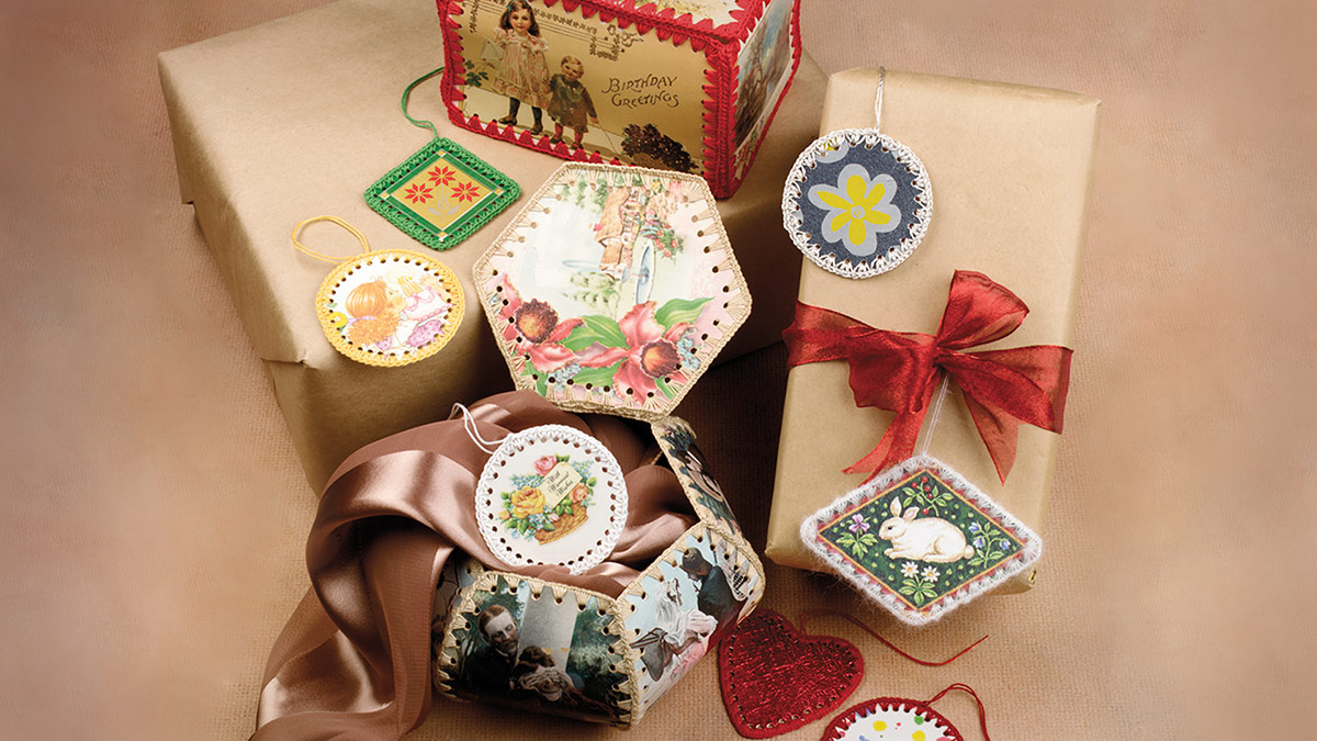 Learn, Make, Create!: Postcard Gift Boxes, Tags & Ornaments