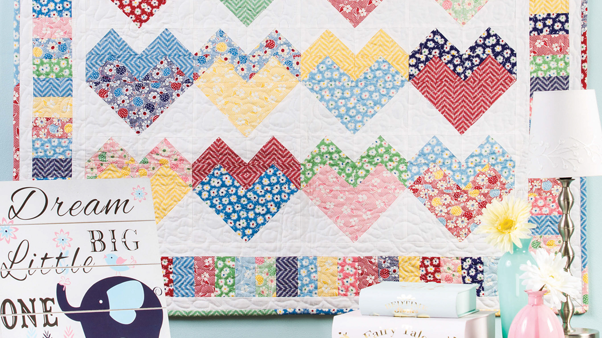 Learn, Make, Create!: Candy Hearts Wall Quilt