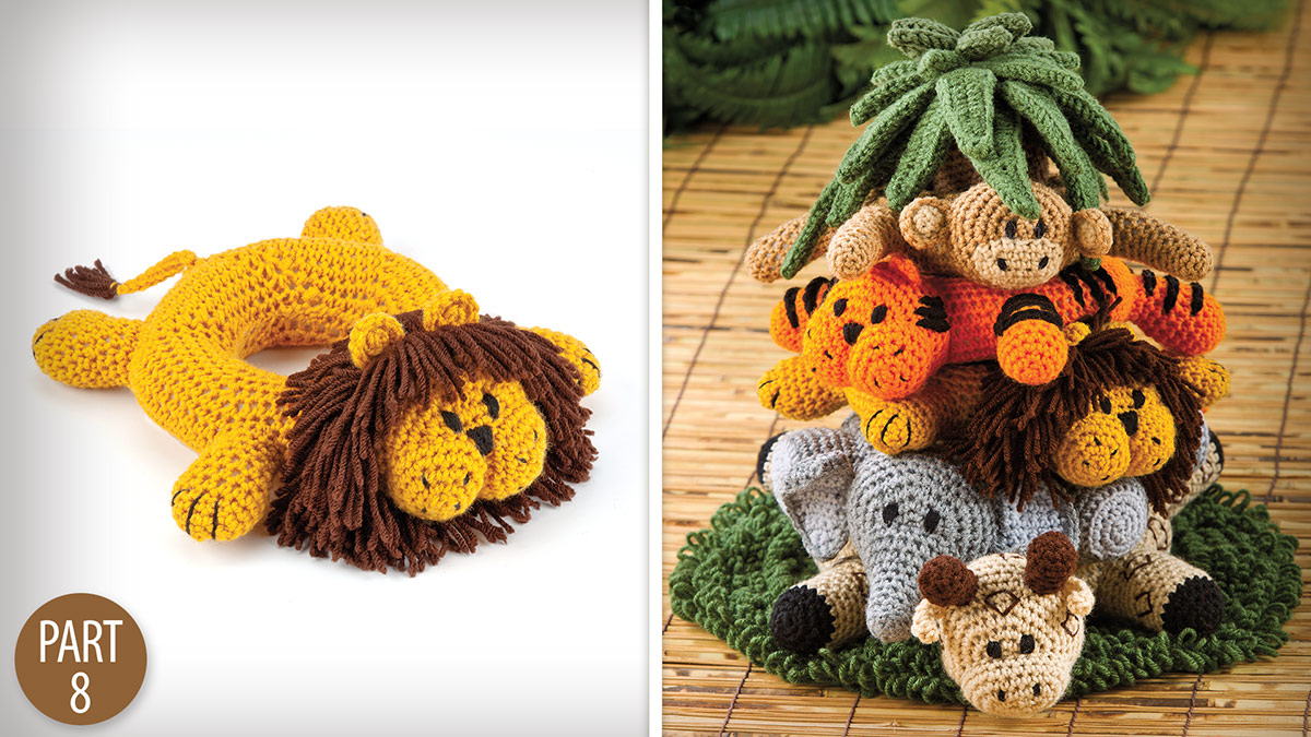 Crochet Skill Builders: Into the Jungle: Lion Part 8