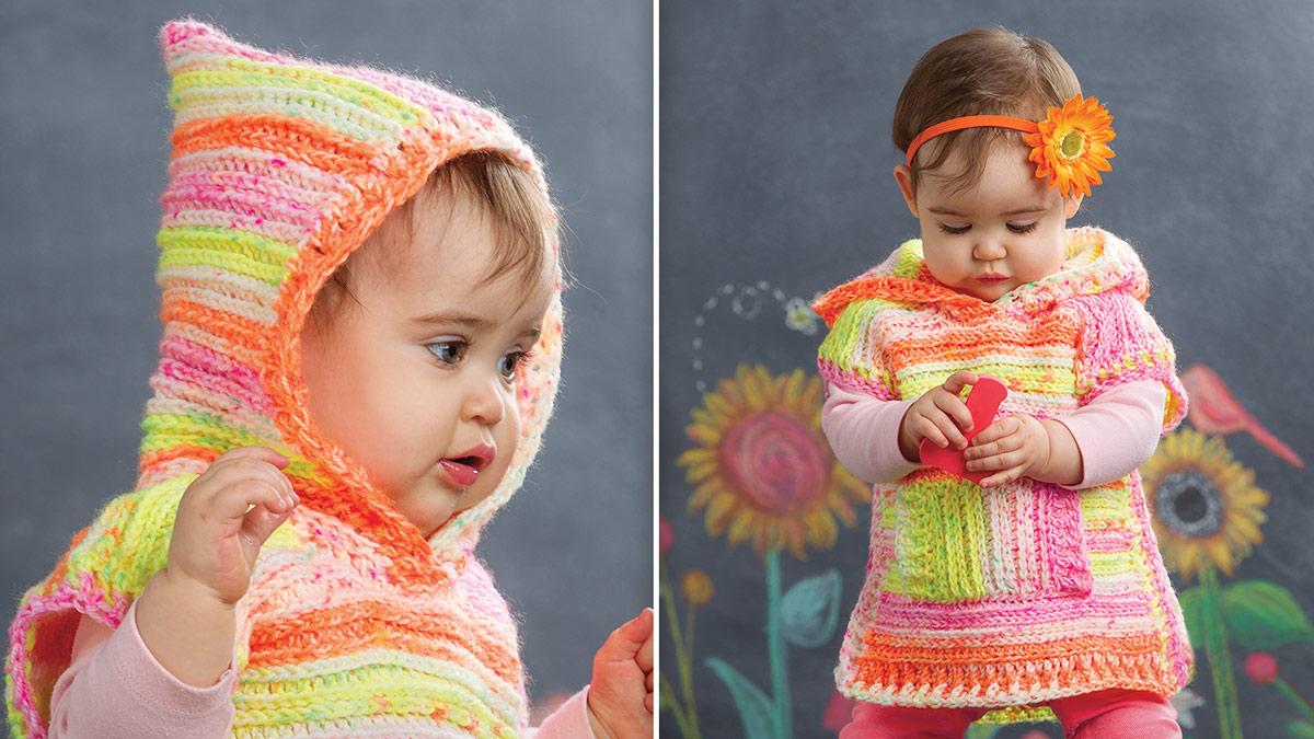 Learn, Make, Create!: Candy Brights Hooded Poncho