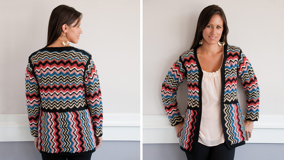 Learn, Make, Create!: Zigzag Crochet Jacket