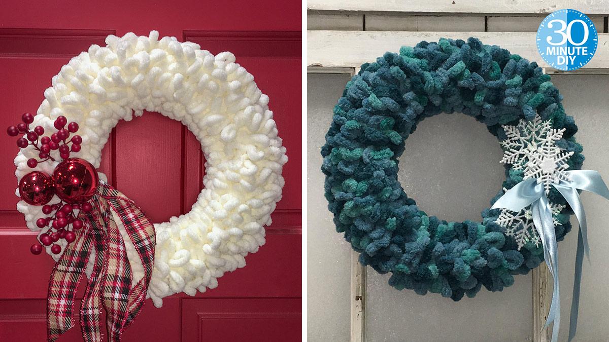 Creative Living: Wintry Chunky Yarn Wreath