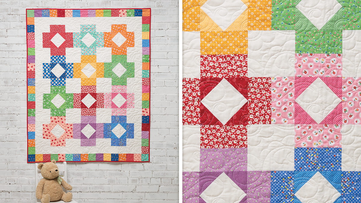 Learn, Make, Create!: Color Blocks Baby Quilt
