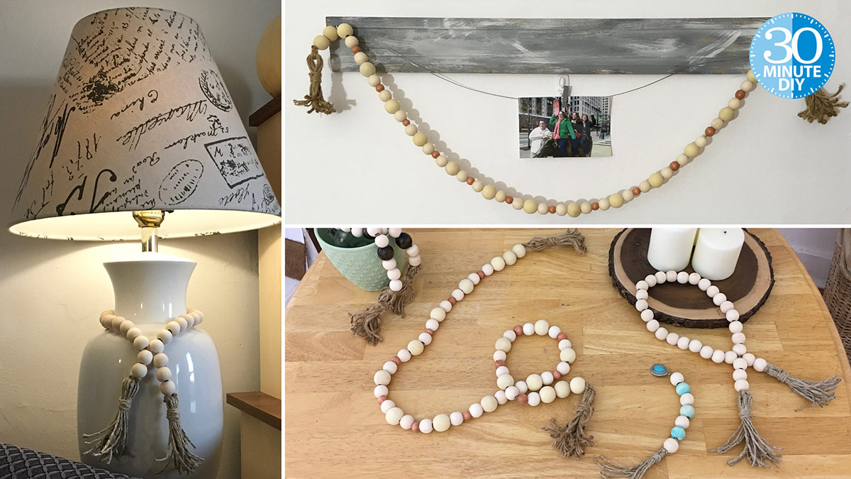 Creative Living: String a Wood Bead Garland