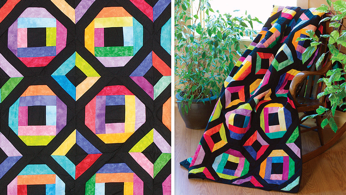 Stained Glass Diamonds Quilt video