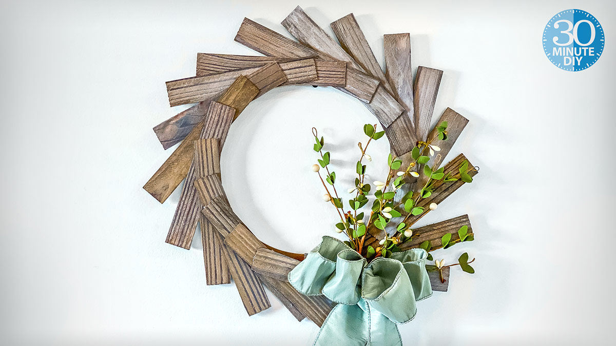 One-of-a-Kind Wood-Shim Wreath video