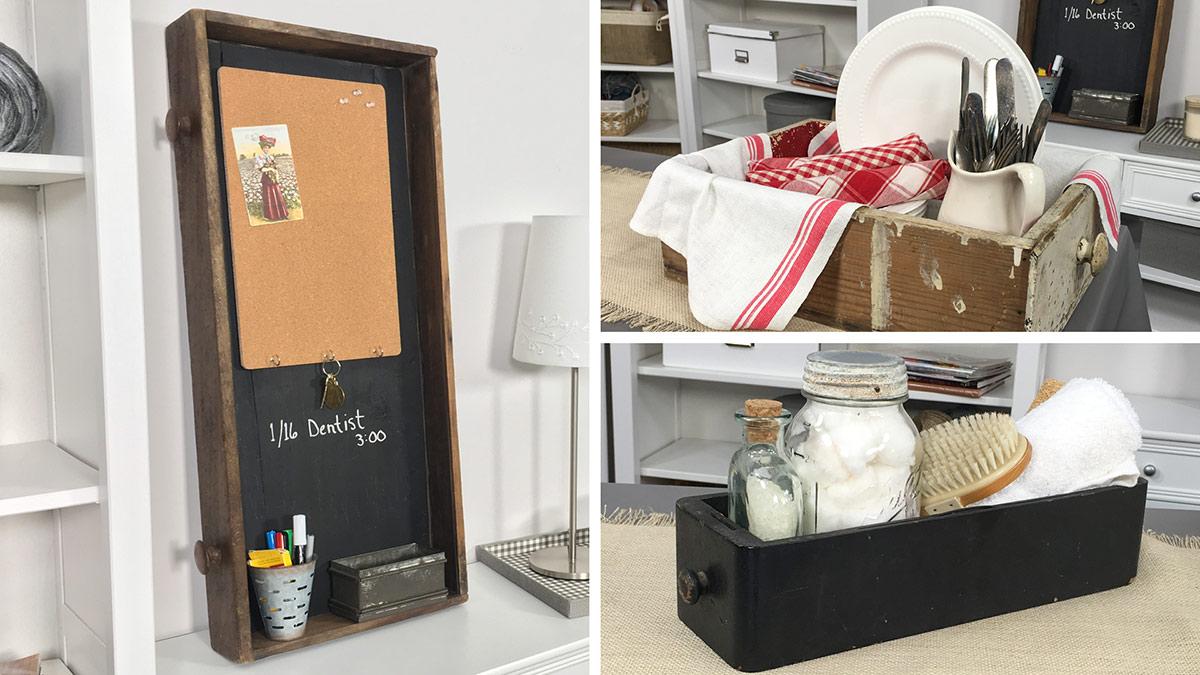Creative Living: Repurposed Drawer Shelf