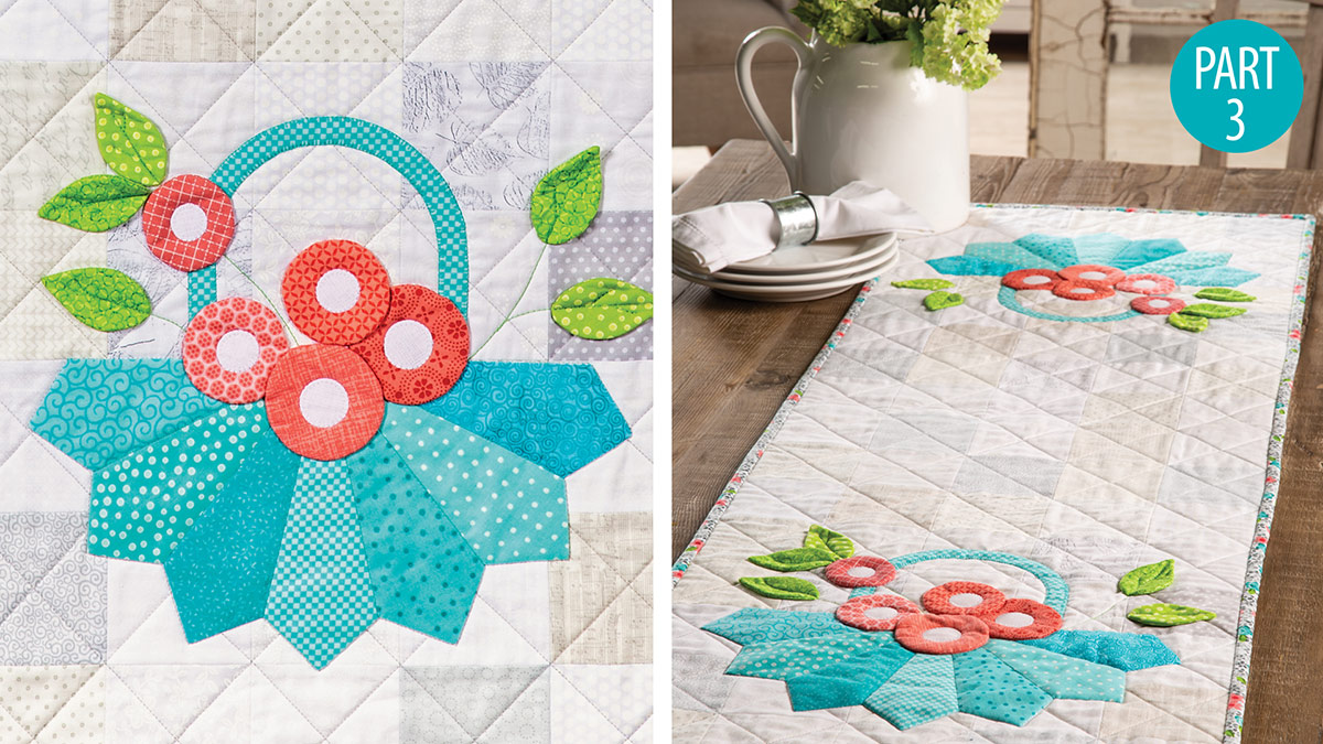 Dresden Flower Baskets Table Runner Part 3 video