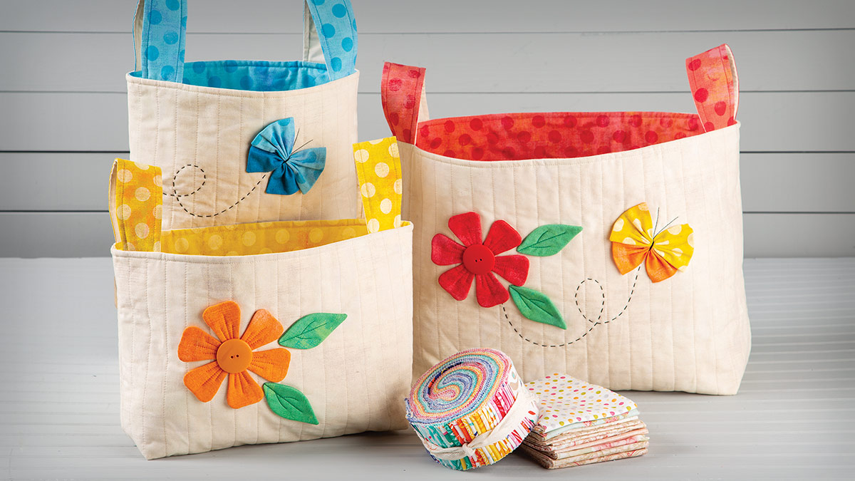 Floral Fabric Baskets video