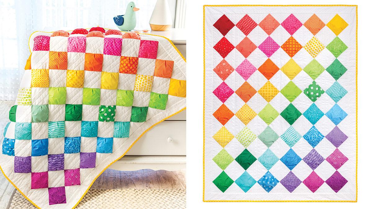 Learn, Make, Create!: Rainbow Puffs Baby Blanket