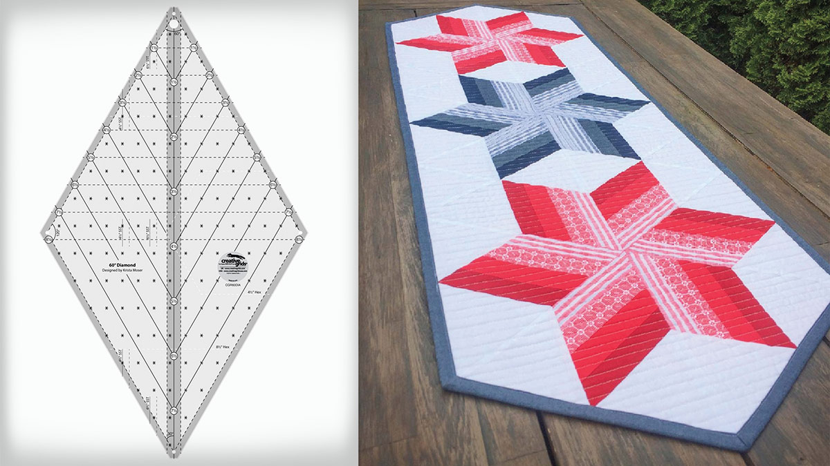 Creative Grids 60 Degree Diamond Ruler video