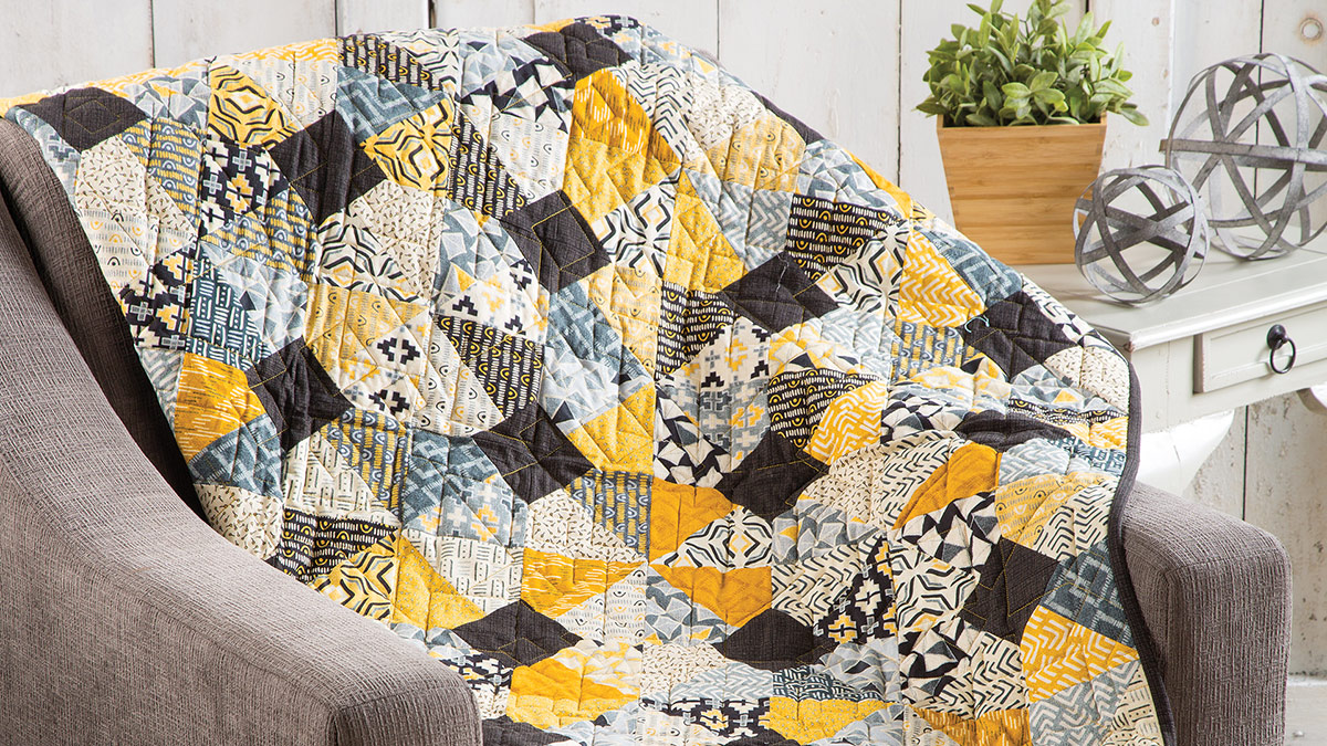 Learn, Make, Create!: Simply Charming Throw Quilt
