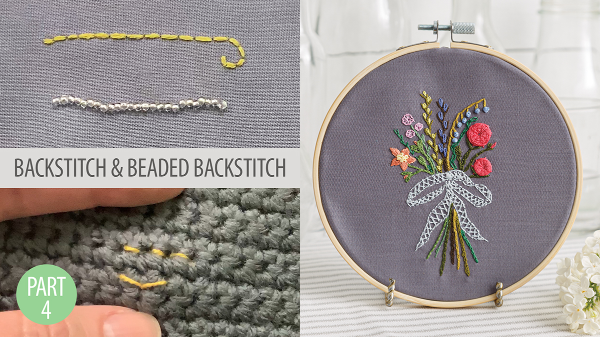 Quilt & Sew Tips: Learn to Embroider Part 4: Backstitch
