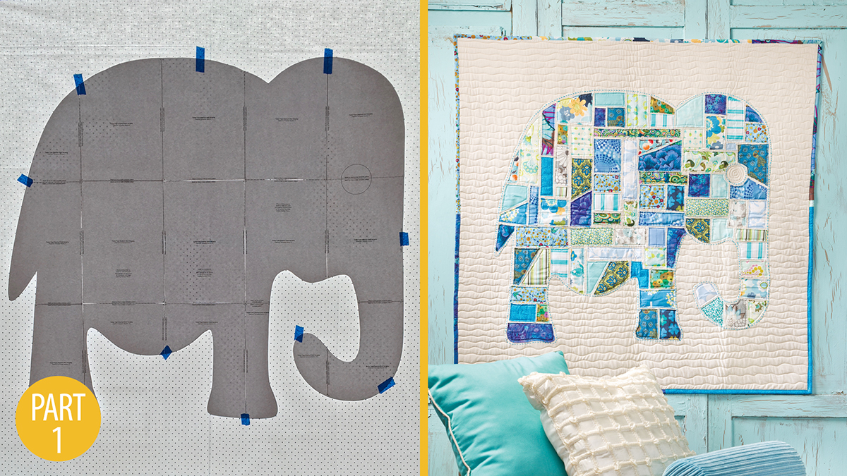Quilter's Skill Builders: Ticker-Tape Elephant Wall Hanging: Part 1
