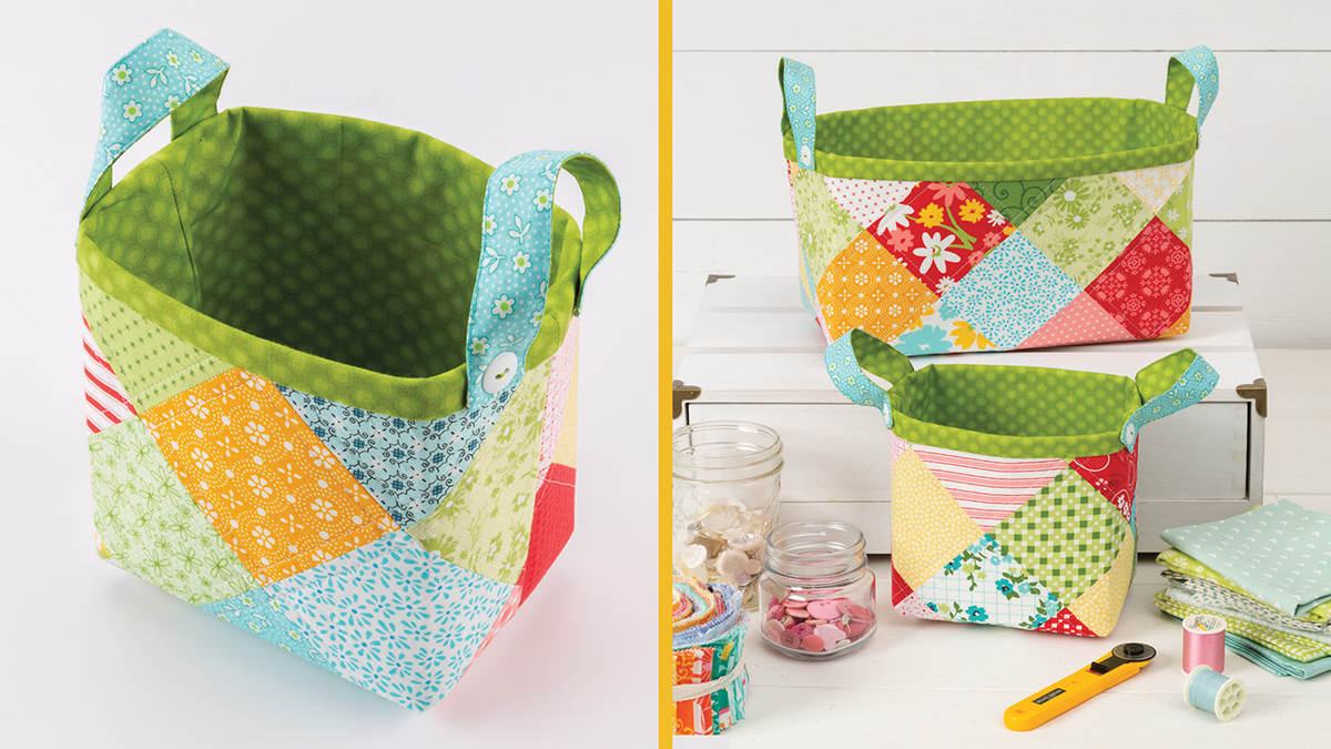 Learn, Make, Create!: Patchwork Baskets