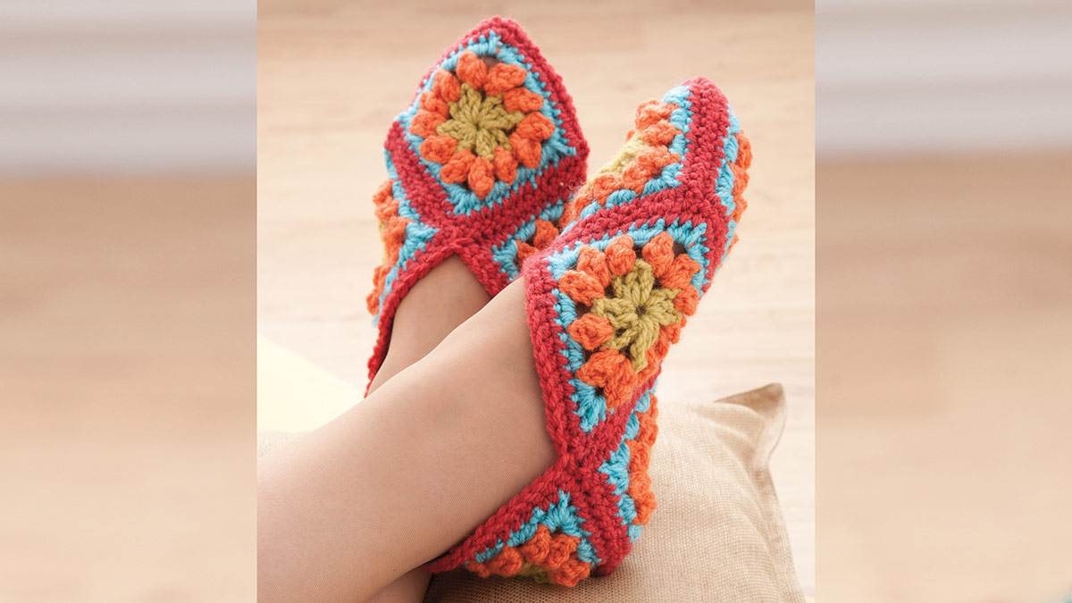 Learn, Make, Create!: Granny Square Slippers