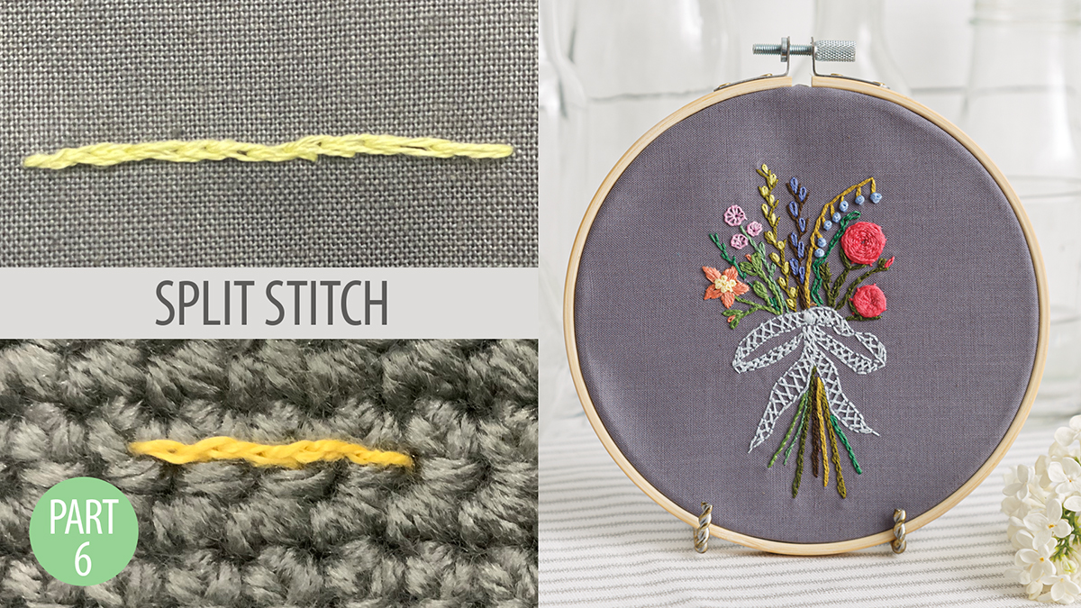 Quilt & Sew Tips: Learn to Embroider Part 6: Split Stitch