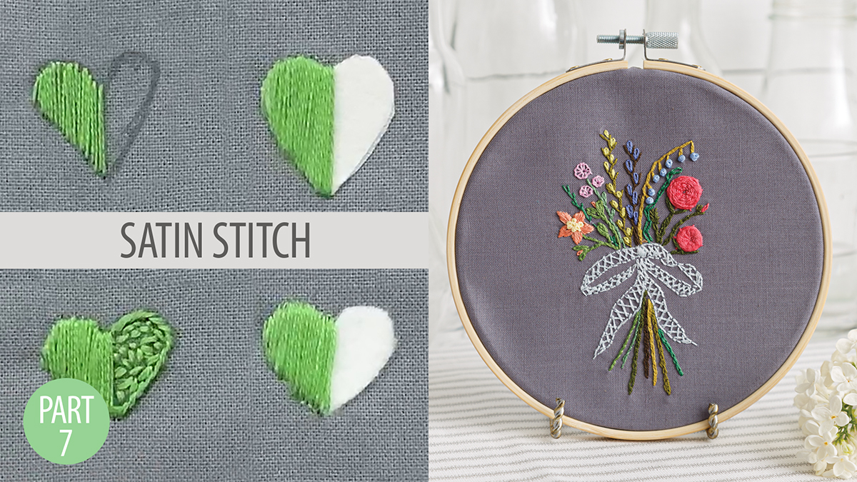 Quilt & Sew Tips: Learn to Embroider Part 7: Satin Stitch