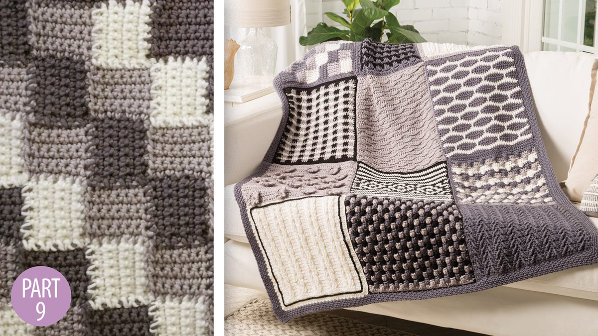 Crochet Skill Builders: Chic Throw by Marly Bird: Corner-to-Corner Block 9