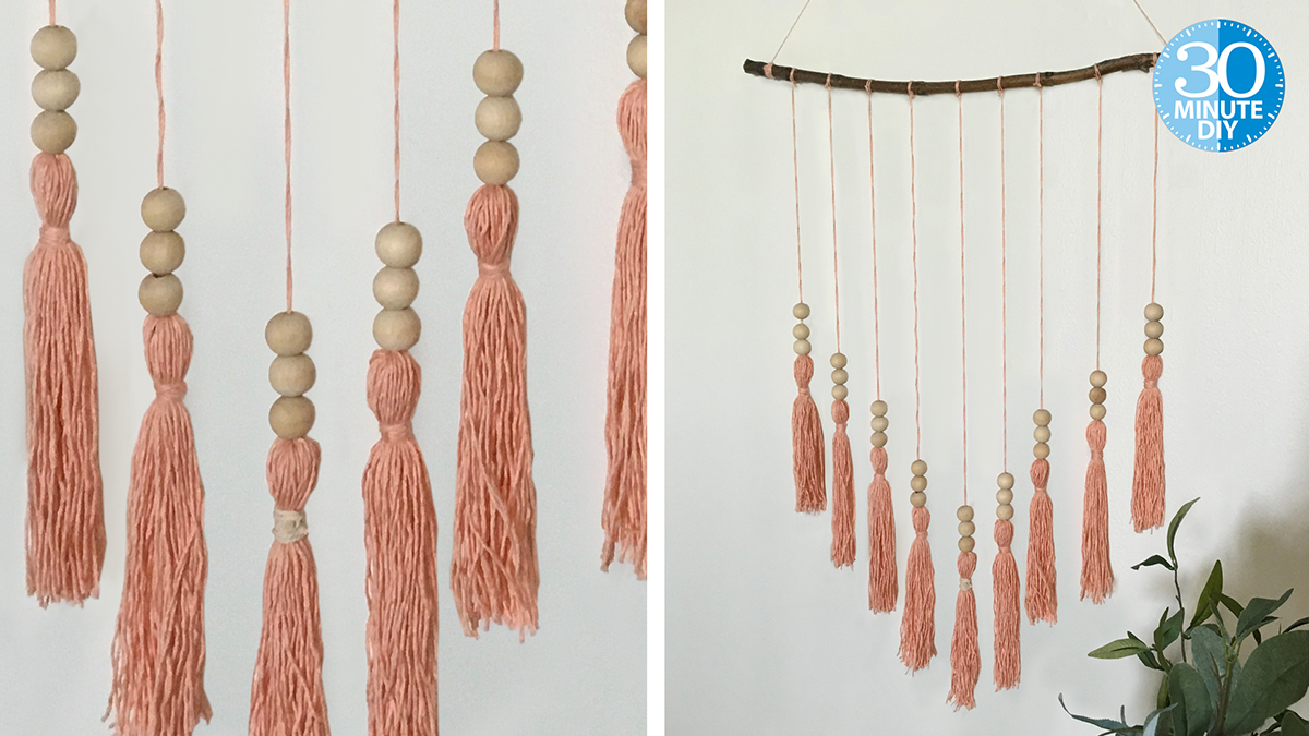Boho-Inspired Tassel Wallhanging video