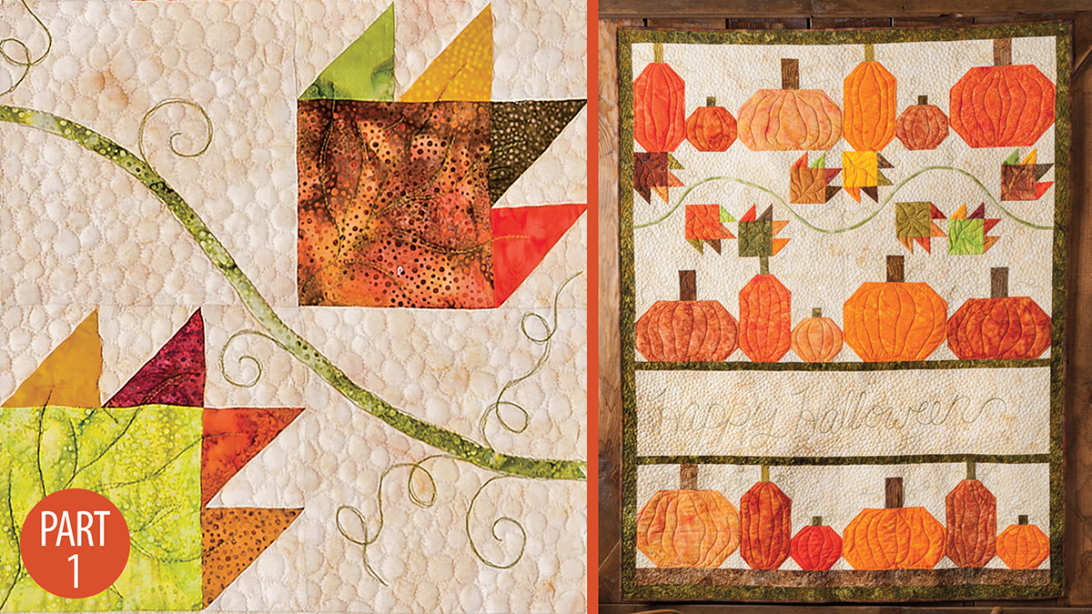 Happy Halloween Wall Quilt: Part 1 video